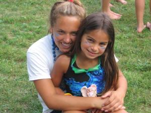 One of the girls I coached, who gave me the angel figurine featured in this picture shortly after the accident.