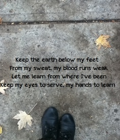 keep the earth below my feet